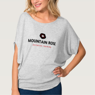 Camiseta T slouchy defensivo do rosa de montanha