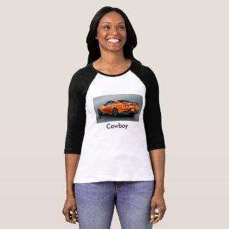 Camiseta T-strits da mulher do tubo do vaqueiro