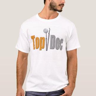 Camiseta T superior do dentista