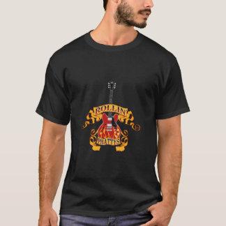 Camiseta T superior escuro