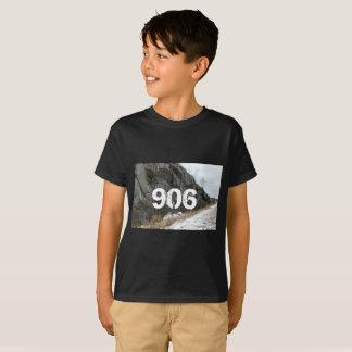 Camiseta T superior rochoso da península de 906 Michigan