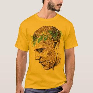 Camiseta T tipográfico do retrato de Barack Obama