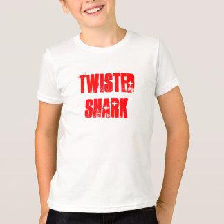 Camiseta T torcido da moeda de um centavo do tubarão