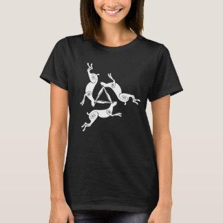 Camiseta T triplo da obscuridade das senhoras de Triskele