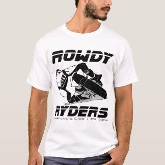 Camiseta T turbulento básico dos homens