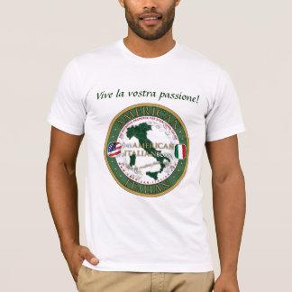 Camiseta T unisex da qualidade do blogue Americano-Italiano