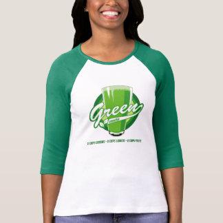 Camiseta T verde do smoothie