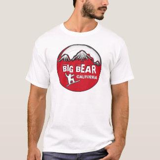 Camiseta T vermelho das caras do snowboard de Big Bear
