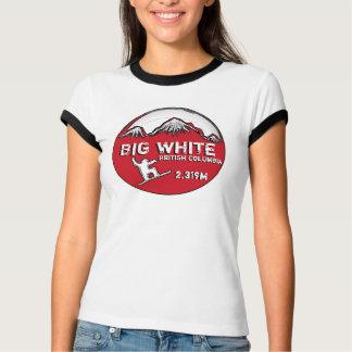 Camiseta T vermelho das senhoras do tema do Columbia