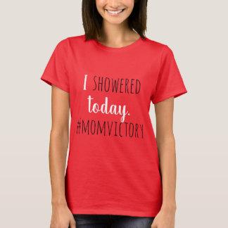 Camiseta T vermelho do chá de B/W