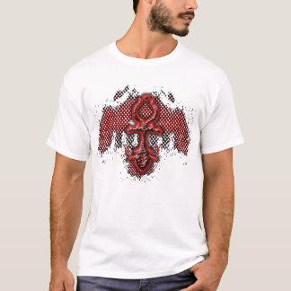 Camiseta T vermelho do formulário da sombra de Ankh