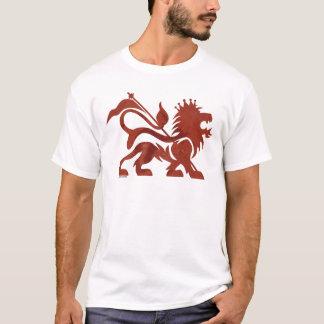 Camiseta T vermelho do leão de Ras por Skidone