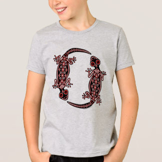 Camiseta T vermelho do Totem dos gecos dos miúdos