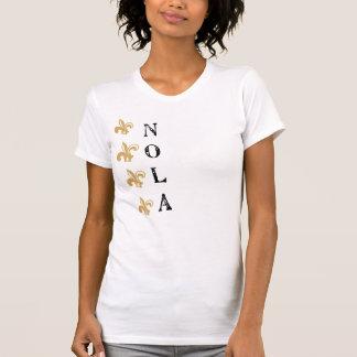 Camiseta T vertical de NOLA Vtg da flor de lis