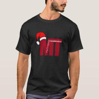 Camiseta TA do Natal do chapéu do papai noel (tecnólogo