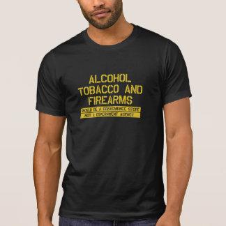 Camiseta Tabaco do álcool do ATF e loja das armas de fogo