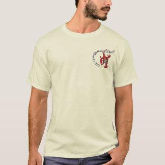 Camiseta Tábua de lavar da banda de azuis dos lagostins