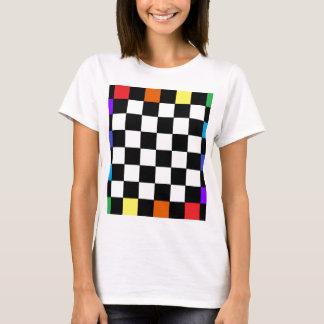 Camiseta Tabuleiro de damas CricketDiane do arco-íris