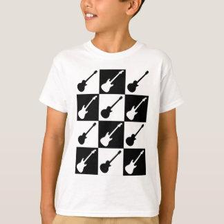 Camiseta Tabuleiro de damas da guitarra elétrica