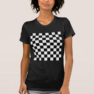 Camiseta Tabuleiro de damas preto e branco