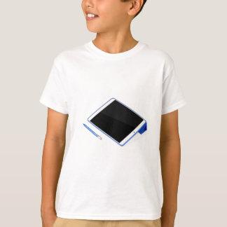 Camiseta Tabuleta no suporte e na caneta digital