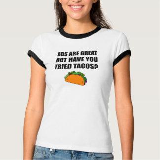 Camiseta Tacos experimentado do excelente do ABS