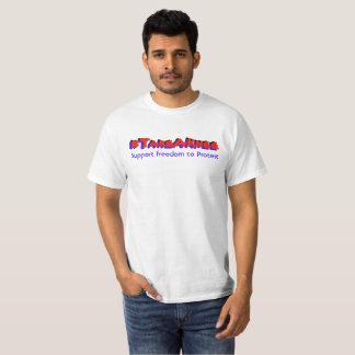Camiseta #Take uma liberdade do apoio do joelho ao protesto