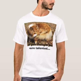 Camiseta Talento do Sheltie