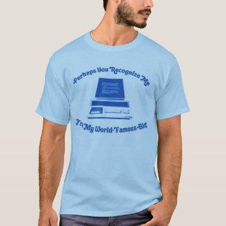 Camiseta Talvez você reconhece-me de meu blogue