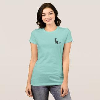 Camiseta Tamanho do bolso do design do gato