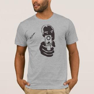 Camiseta Tambor de arma, carvão vegetal