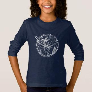 Camiseta Tambor do pássaro e T por muito tempo Sleeved do
