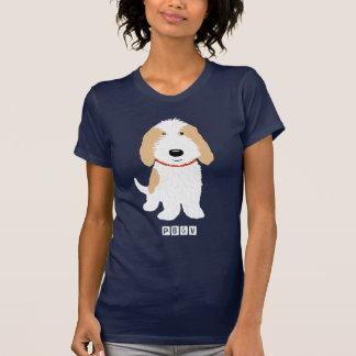 Camiseta Tan & cão branco de PBGV