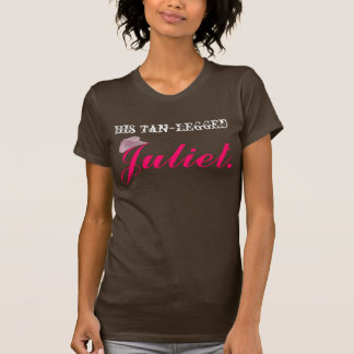 Camiseta Tan Juliet equipado com pernas