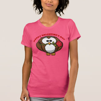 Camiseta Tango da coruja dos namorados felizes