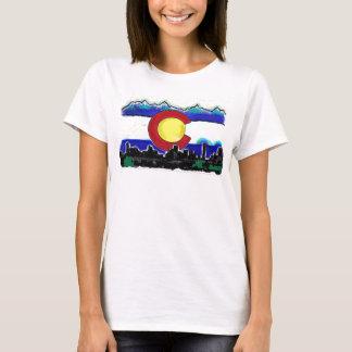 Camiseta Tanque artístico das senhoras da skyline de Denver