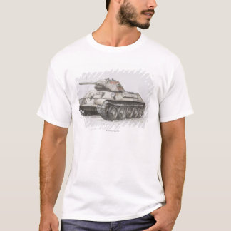 Camiseta Tanque de exército do russo T-34, vista lateral