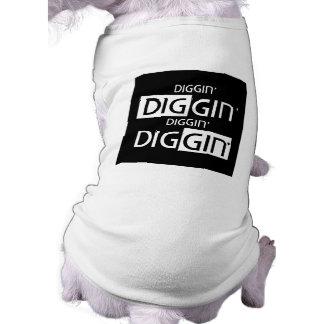 Camiseta Tanque do animal de estimação de DIggin DIggin