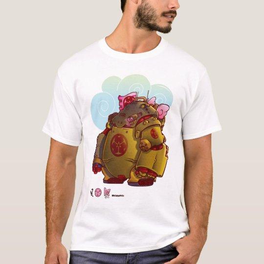 Camiseta tanque do robô do samurai