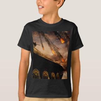 Camiseta Tanque militar no campo de batalha