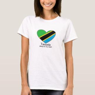 Camiseta Tanzânia sempre em minha mulher do coração