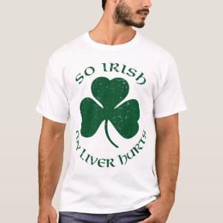 Camiseta Tão irlandês meu fígado fere o t-shirt
