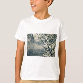 Camiseta Tapete do rato nevado da árvore