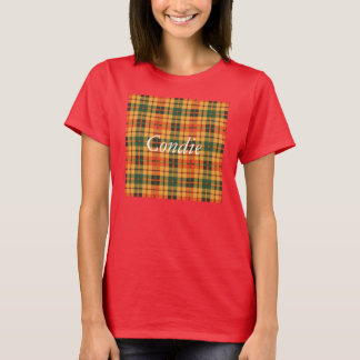 Camiseta Tartan escocês do kilt da xadrez do clã de Condie