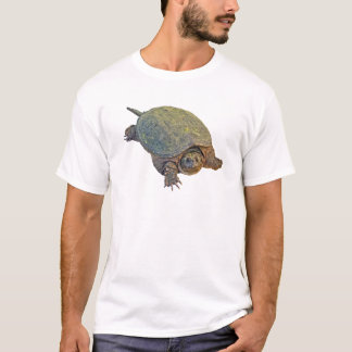 Camiseta Tartaruga de agarramento comum - serpentina do
