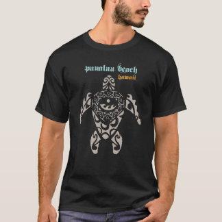 Camiseta Tartaruga de mar de Havaí da praia de Punaluu