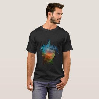 Camiseta Tartaruga de mar escura básica do t-shirt dos