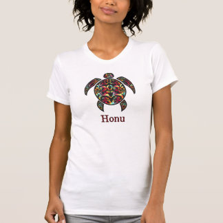 Camiseta Tartaruga de mar havaiana do arco-íris