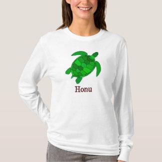 Camiseta Tartaruga de mar verde havaiana