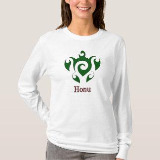 Camiseta Tartaruga de mar verde havaiana de Swirly